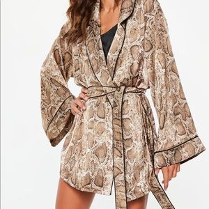 Missguided Snake Print Robe